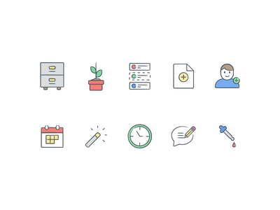 Icons for [redacted] line illustrations icons