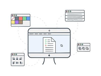 Splash screen illustration display illustrator icon