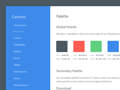 🙈 palette guide style styleguide website