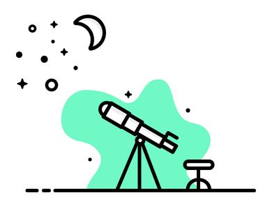 We Are Made of Star-Stuff. stuff illustration telescope stars