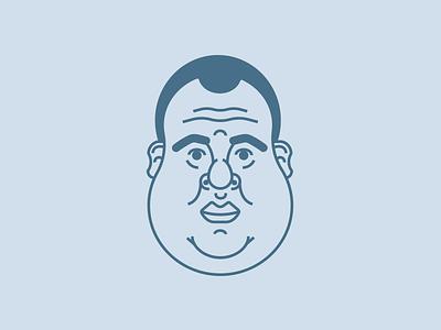 Portrait face art line illustration portrait