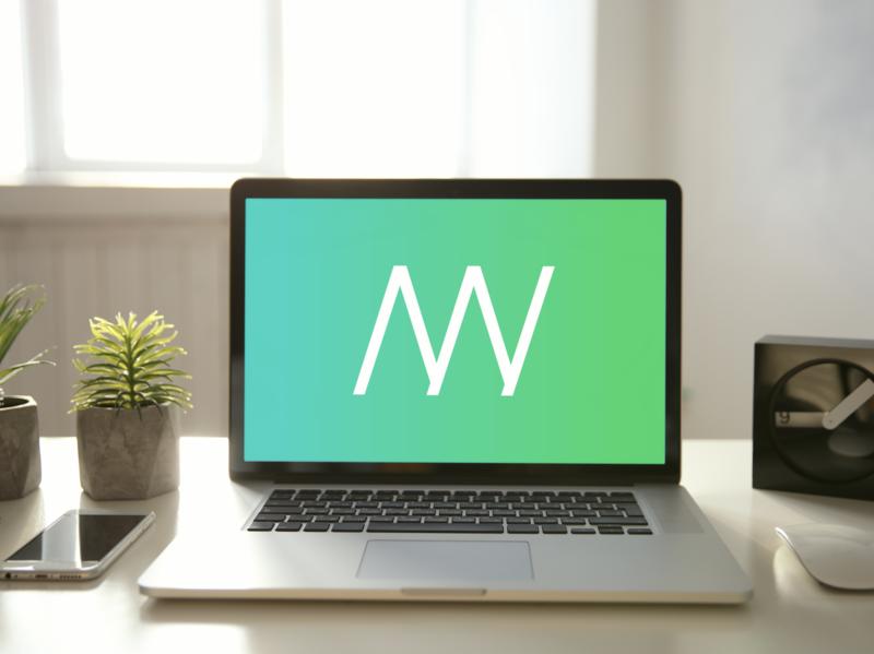 MN Logo artwork type design abstract logo gradient branding logo design concept vector design logo