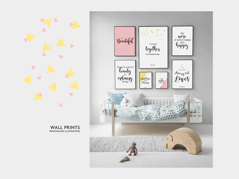 Wall Prints wallpaper pink yellow design poster design poster art love together happy kids room kids art beautiful typogaphy pattern design vector illustration print design wall art artwork illustration