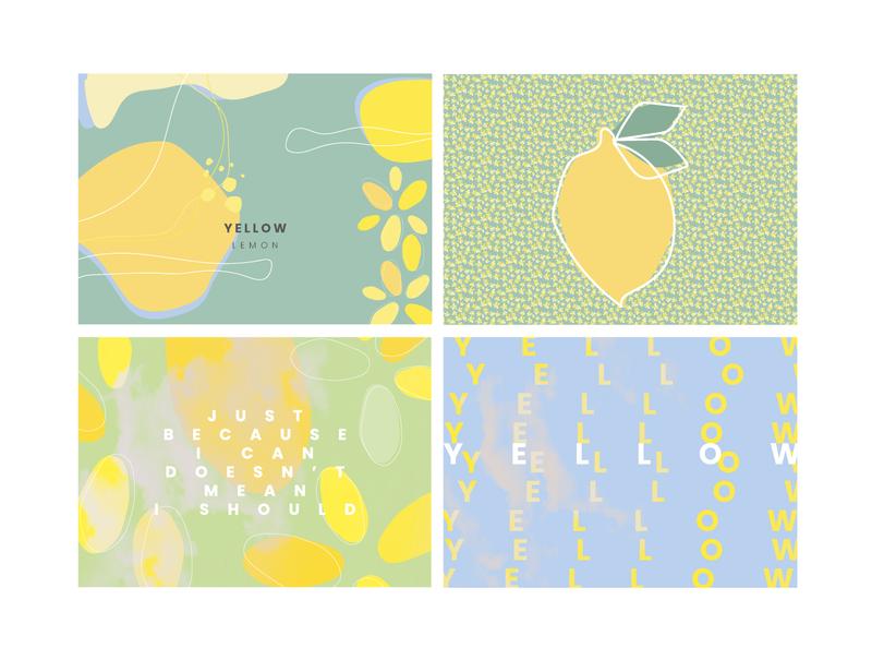 YELLOW lemon sage blue yellow prints vector illustration adobe illustrator artwork design