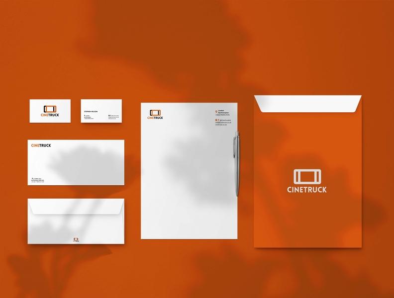 CineTruck Stationery logo design branding logo design texture whitespace cinema logo shaddow orange stationery mockup stationery design stationery set template logo design concept branding adobe illustrator artwork design stationery