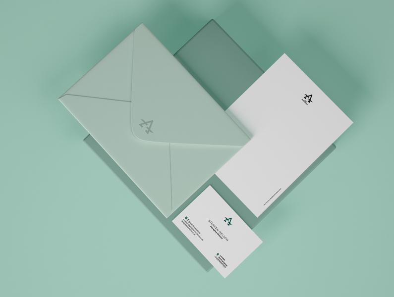 Stationery mock up branding design logo logo design concept vector branding adobe illustrator artwork design stationery letterhead design business card design envelope design logo design