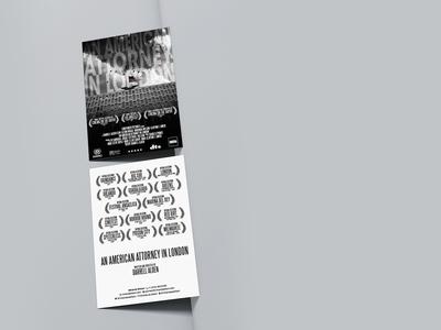 Postcard (Attorney In London short movie) design postcard movie poster