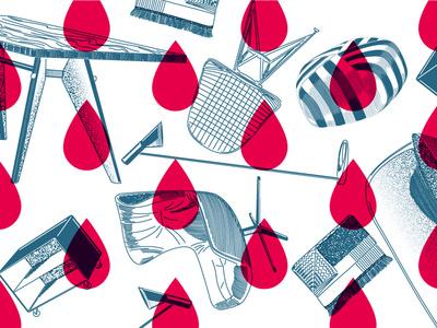 Gift wrap crosshatching color minimal furniture design lines vector illustration hamburg woodcut texture paper giftwrap christmas pattern design furniture pattern