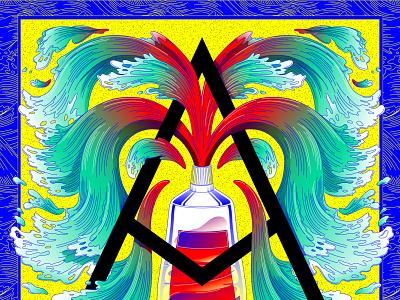 Art creates water lines waterfall vector art adobeillustrator digitalart vectorart water waves ornament dropcap lettering typography hand lettering germany hamburg