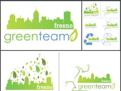 Fresno Green Team logo design branding