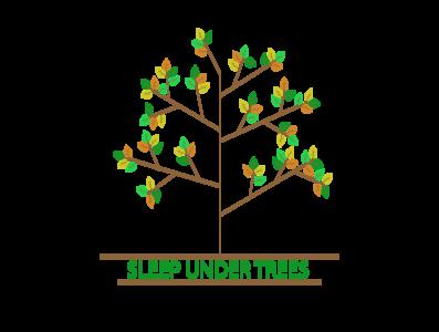 Sleep under trees flowers illustration design spring shirt trees sleep