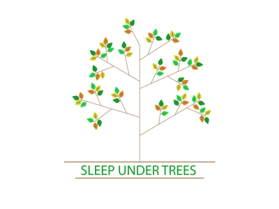 Sleep under trees flowers illustration design spring shirt trees sleep