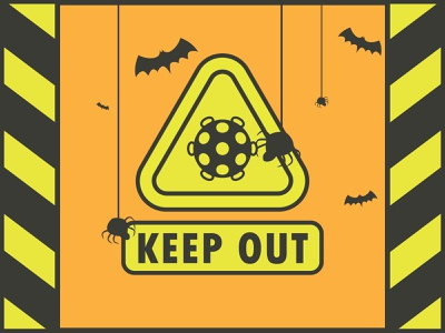 KEEP OUT OF DANGER halloween danger