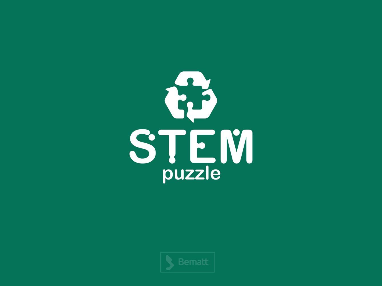STEM Puzzle Logo Design animation illustrator logo illustration flat graphic design brandbook design branding