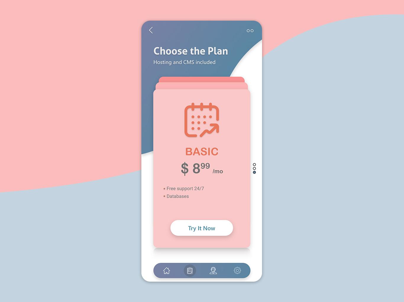 Subscription Plan web branding website mobile ui mobile app logo ios app illustration design app android app ux ui