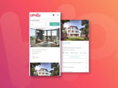 Hoozzi Property Listing app concept mobile app ux ui web design digital design web product digital product design graphic design creativity branding inspiration design thinking design inspiration design creative brand dustproof