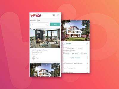 Hoozzi Property Listing app concept mobile app ux ui web design digital design web product digital product design graphic design creativity branding inspiration design thinking design inspiration design creative brand dustproof