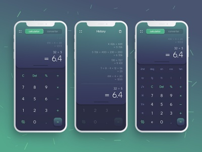 Calculator / Daily Ui #004 concept violet figma fluent mathematics calculator neomorphic neomorphism clay mobile ui 004 gradient ios green application 001 mobile daily ui dailyui app