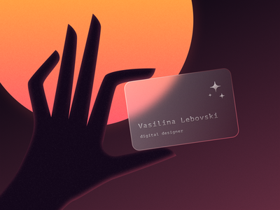 Matte Card glassmorphism figma transparent matte simple blur concept neomorphism glass effect card glass laconic stars orange art hand bank card business card dailyui daily ui
