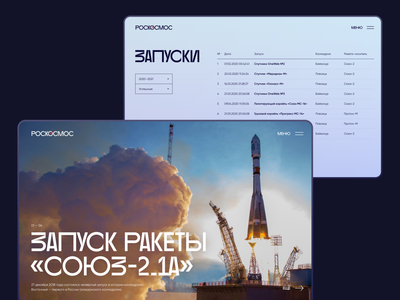 Roscosmos Web Concept nasa cyrillic cyrilic концепт main table spacex space laconic swiss simple dailyui daily ui webdesign web космос роскосмос roscosmos