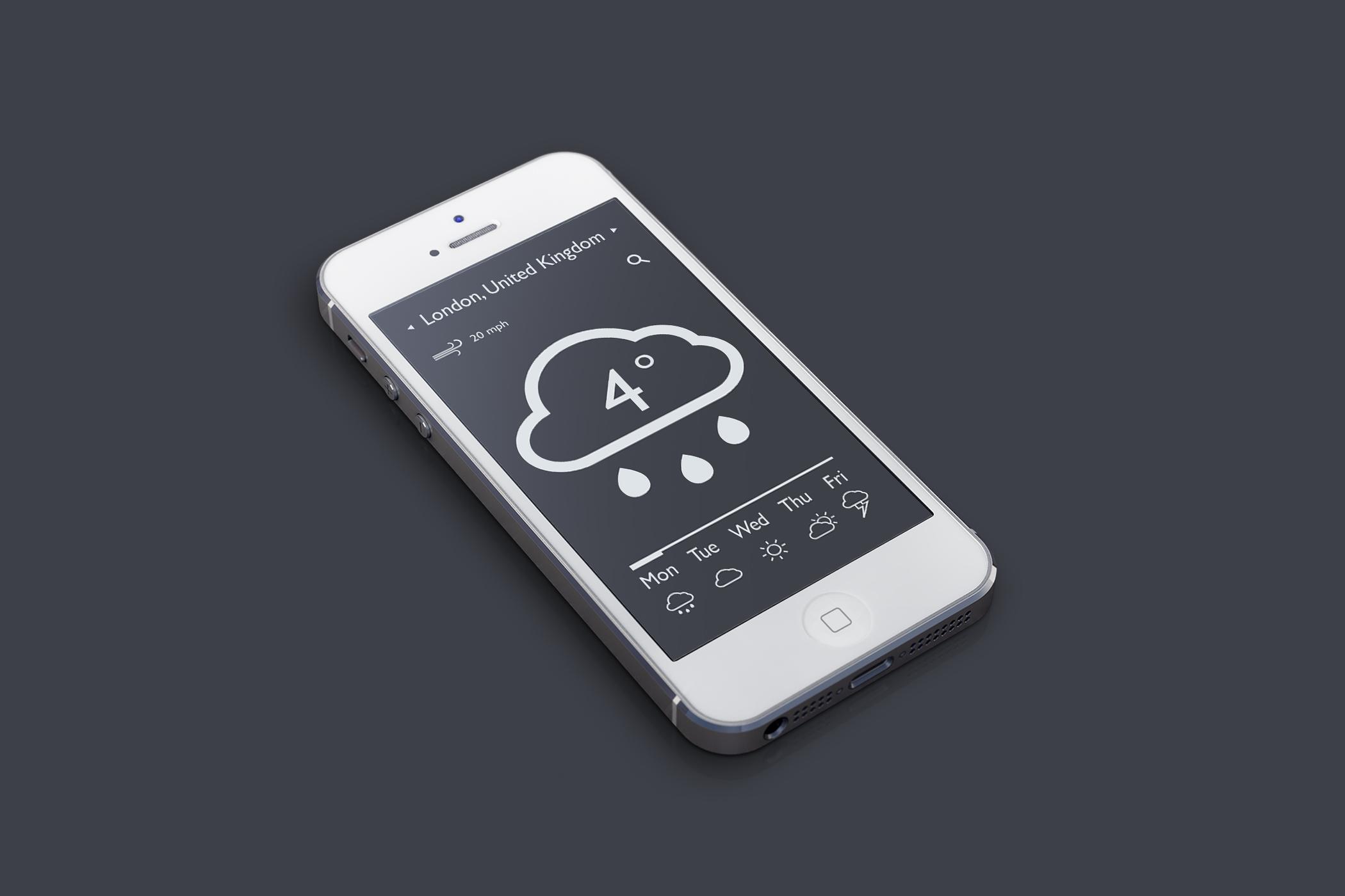 Weather app dark