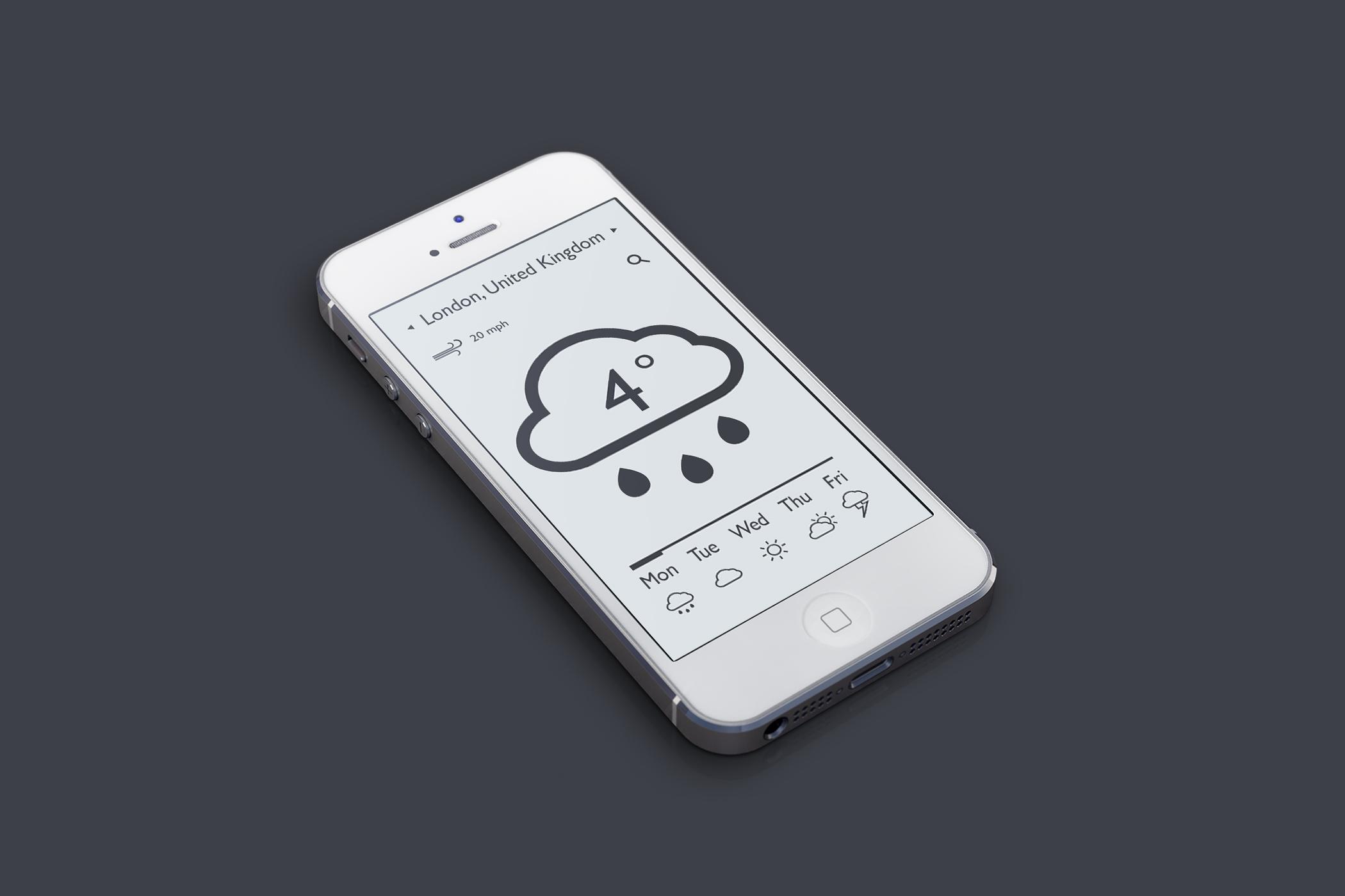 Weather app light