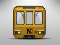 Metro train app icon