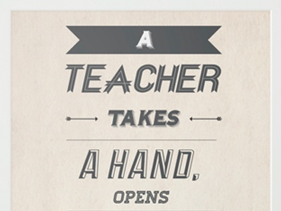 Life as a teacher design type typography teacher lettering vintage retro poster arrow banner font graphic design type design