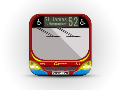 """Go Northeast"" bus app icon"