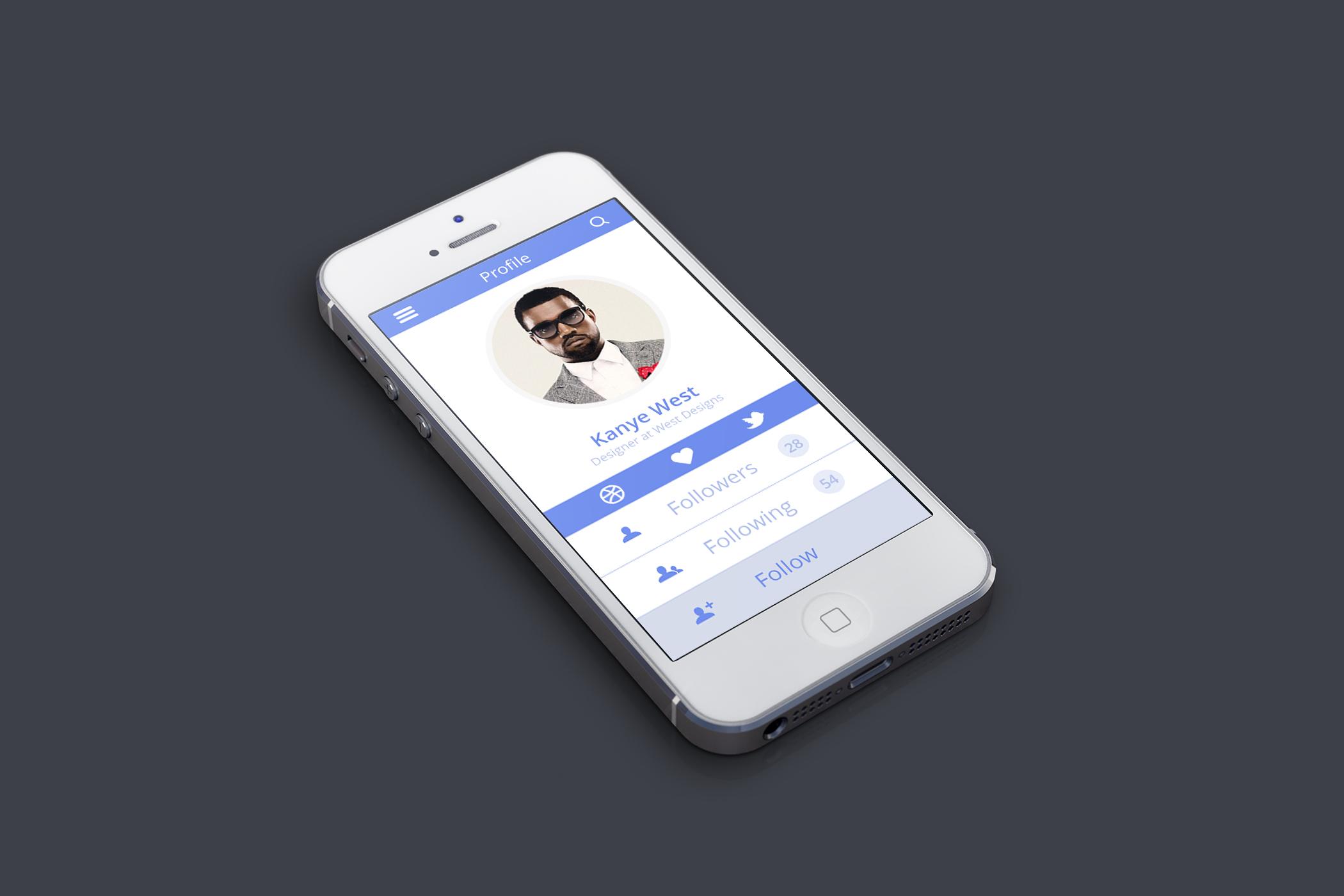 Profile iphone blue