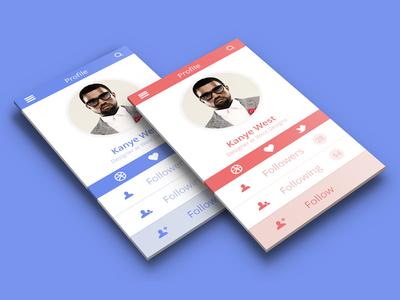 Profile App Design