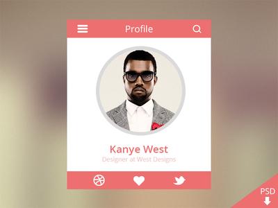 Profile Design Freebie