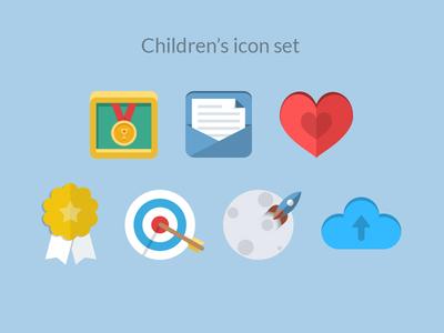 Children's icon set