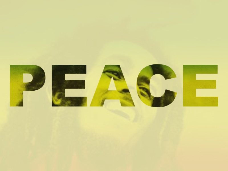 Peace peace type typography graphic design war love unite bob marley graphic design