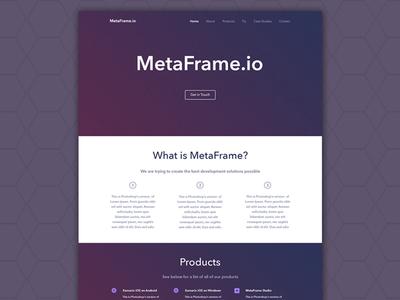 MetaFrame Website WIP