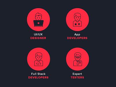 icons icons icon design ui designer developer clean app tester stroke icons app design full stack
