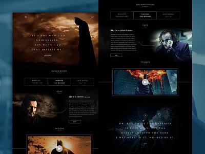 The History of Batman Website comic dc comics marvel interface website batman ui ux clean marketiting user interface website design