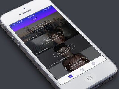 Music App app interface ui ux design feed music live app design interface design ios8 ios7