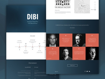 DIBI Conference Re-Design interface web ui ux dibi conference minimal clean design interface design web design graphic design