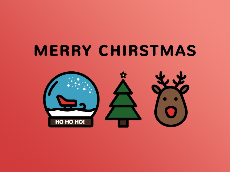 Merry Christmas! christmas xmas icons icon app interface reindeer rudolf snow icon design xmas tree snow globe