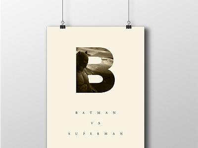 Batman Minimalist Poster illustration poster design batman minimal minimalist branding superman print graphic design dawn of justice typography