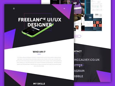 Personal Website WIP website interface ui ux freelance designer design branding web design website design app design self-branding