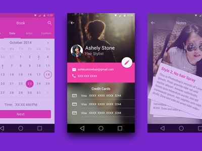 Material Design Screens