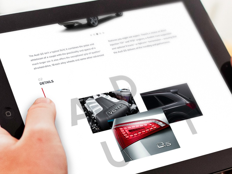 Audi - A new experience #2 web design car audi layout e-commerce web typography website ipad ux ui design