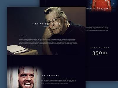 Stephen King Halloween Mockup stephen king halloween horror typography website interface ux ui design web