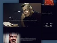 Stephen King Halloween Mockup stephen king halloween horror typography website interface ux ui design web
