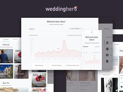 Weddinghero UI & Dashboard web stats graph data wedding dashboard design product interface ux ui