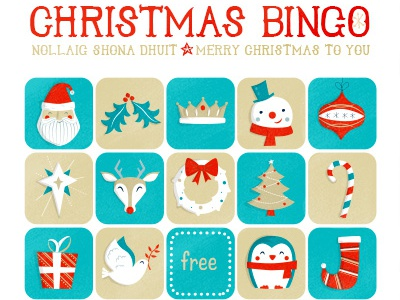 Free Christmas Bingo Download character christmas holiday santa penguin deer snowman bingo family kids clumsy