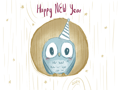 New year dribbble