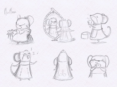Mouse sketches dribble
